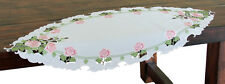 Xia Home Fashions Summer Rose Embroidered Cutwork Table Runner