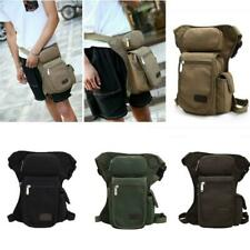 Canvas Tactical Waist Multi Pack with Leg Strap Airsoft Hunting Travel Hip Bag