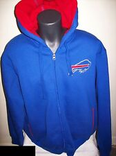 BUFFALO BILLS Hooded Jacket Sherpa Hoody Sewn Logos   2X BLUE