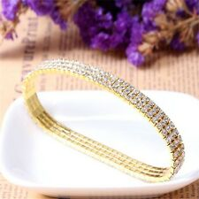 Bridal Effect Costume Prom Zircon Trendy Crystal Anklet Bracelet Stretch