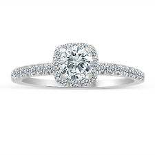 1/2ctw Diamond Halo Engagement Ring in 10k  White Gold