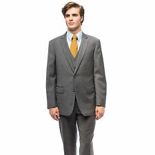 Men's Wool Single-breasted Vested Suit