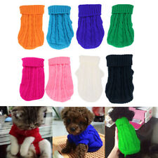Pet Dog Puppy Jumpsuit Soft Knitwear Sweater Clothes Apparel Costume
