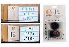 Gingersnap Cinematic Light Box / Spare Letter Pack Black White Pink A3 A4 A5