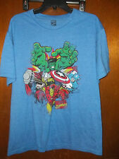 Marvel Avengers Blue large cast Graphic Hulk Iron Man t-shirt  NWT Large