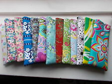 Handmade soft padded spectacle pouch / glasses case - flowers cottons floral