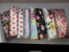 Handmade soft padded spectacle pouch / glasses case - roses cottons