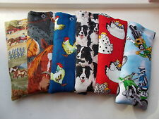 Handmade soft padded spectacle pouch / glasses case - farm animals & tractors