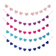 Various10-Flags Banner Photo Booth Felt Bunting Wedding Party Hanging Decor DIY