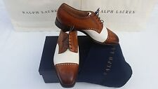 NEW!!! RALPH LAUREN EDWARD GREEN MEN'S WHITTAKER CAP TOE SPECTATOR Oxfords $1500