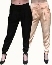 WOMENS ASOS PEACH BLACK WAIST TAILORED PEG TAPERED TROUSERS PANTS WORK BUSINESS