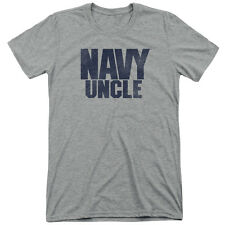 Navy Uncle Mens Tri-Blend Short Sleeve Shirt ATHLETIC HEATHER