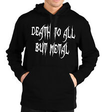 Death To All But Metal Hoodie Hoody Mens Womens Kids Festival Goth Emo Gig Gift