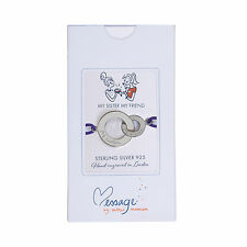 Merci Maman My Sister My Friend Sterling Silver / Gold circles purple bracelet