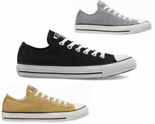 WOMENS CONVERSE CT All STAR OX CANVAS GIRLS TRAINERS GREY GOLD BLACK
