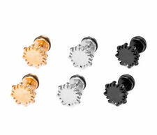 SCREW BACK TITANIUM STAINLESS STEEL APOLLO SUN TOTEM SYMBOL STUD EARRING 1 PIECE