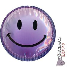 EXS SMILEY FACE Regular Natural Latex Condoms FAST FREE POST Private