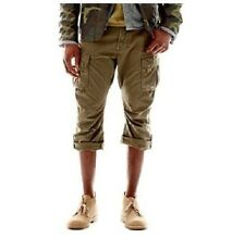 William Rast Men's Dark Olive Cargo Short