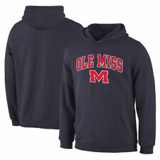 Fanatics Branded Ole Miss Rebels Campus Pullover Hoodie - Navy - NCAA