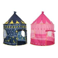 Portable Pink Pop Up Play Tent Kids Girl Princess Castle Outdoor Play House N9M0