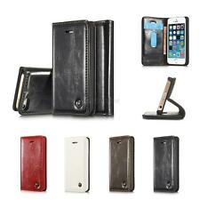 PU Leather Luxury Case Leather Wallet Case Stand Flip Cover for iPhone 5 6S 7 7P