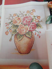 FLOWER VASE CROSS STITCH CHART.YOU CHOOSE FROM 10 SELECTIONS#90
