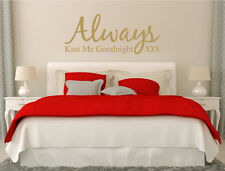 Always kiss me goodnight decal | Wall quote sticker