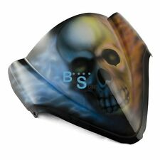 Airbrushed Skull Flames Windscreen Windshield For Honda Fairing motorcycle