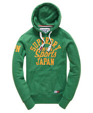 New Mens Superdry Trackster Hoodie Oregon Green Marl