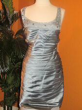 ADRIANNA PAPELL  NWT women's silver blue pewter beaded dress $248