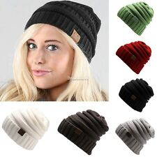Winter Casual Unisex Men/Women Knitted Ski Cap Solid Beanie Cap Hat FT