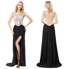 Sexy Women Long Formal Prom Dress Cocktail Party Ball Gown Evening Split Dresses