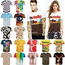 Nutella Gift 3D Graphic Print Men's Women's Casual Short Sleeve Tee Tops T-Shirt
