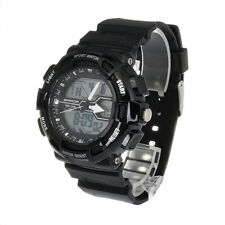 Hot Men/Women LED Digital Backlight Alarm Stopwatch Analog Quartz Wrist Watch