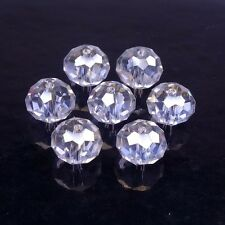 Glass beads Crystal Crystal Glass Facet cut faceted Rondelle 8mm 10mm