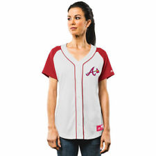 Atlanta Braves Majestic Women's Fashion Replica Jersey - White/Red - MLB
