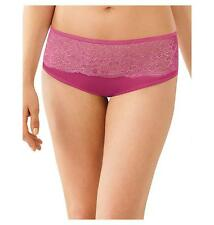 Women's Bali One Smooth U Comfort Indulgence Satin with Lace Hipster Bali