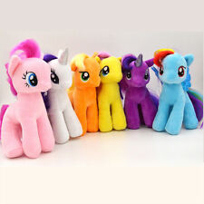 "6PCS Cute 7"" My Little Pony Horse Figures Stuffed Plush Soft Teddy Doll Gift Toy"