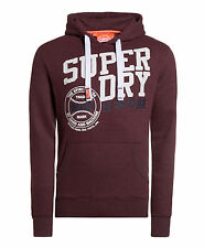 New Mens Superdry Ball Park Entry Hoodie Port Marl