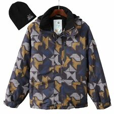Mens S M L ZeroXposur Gray Covert Snowboard Jacket Coat with Hat NEW $180