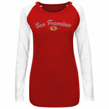 San Francisco 49ers Majestic Womens Coin Toss IV Long Sleeve T-Shirt - NFL