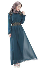 Muslim Women Long dress Islamic Kaftan Abaya Ladies Dubai maxi dress New dress