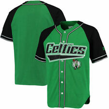 Boston Celtics Starter Baseball Jersey - Kelly Green/Black - NBA