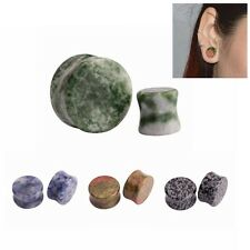 2pcs Organic Flower Stone Ear Plugs Tunnels Ear Stretchers Ear Gauges Piercings