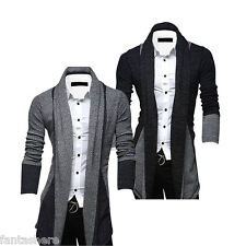 Fashion Mens Stylish Slim Fit Knit V-Neck Cardigan Long Sweater Coat Jacket Top