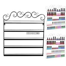 Professional Iron Nail Display Wall Rack 5 Tier Organizer Display Rack Holder