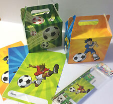 Football Themed Party Essentials – Stationery Set, Empty Party Bags, Food Boxes