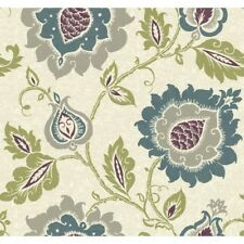 """York Wallcoverings Carey Lind Vibe Removable 27' x 27"""" Jaco Floral Wallpaper"""