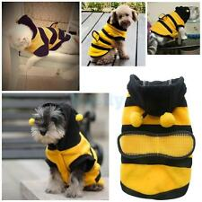 Funny Honey Bumble Bee Lovely Wings Dog Cat Pet Costume Outfit Apparel Clothes