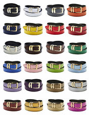 Men's Belt Reversible Bonded Leather Belts Gold-Tone Buckle Over 20 Colors